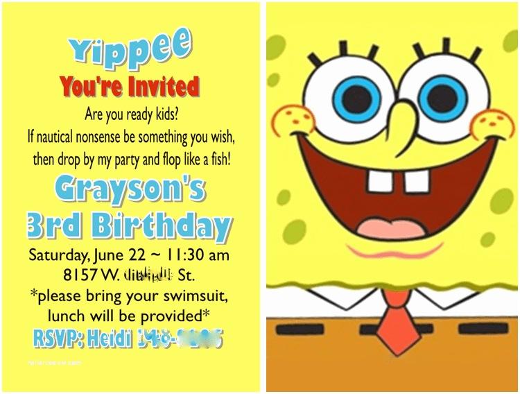 Spongebob Birthday Invitations Diy 3d Spongebob Invitations My Paper Craze