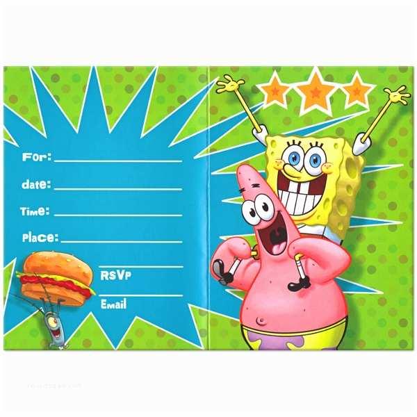 Spongebob Birthday Invitations Free Printable Spongebob Birthday Invitations – Bagvania