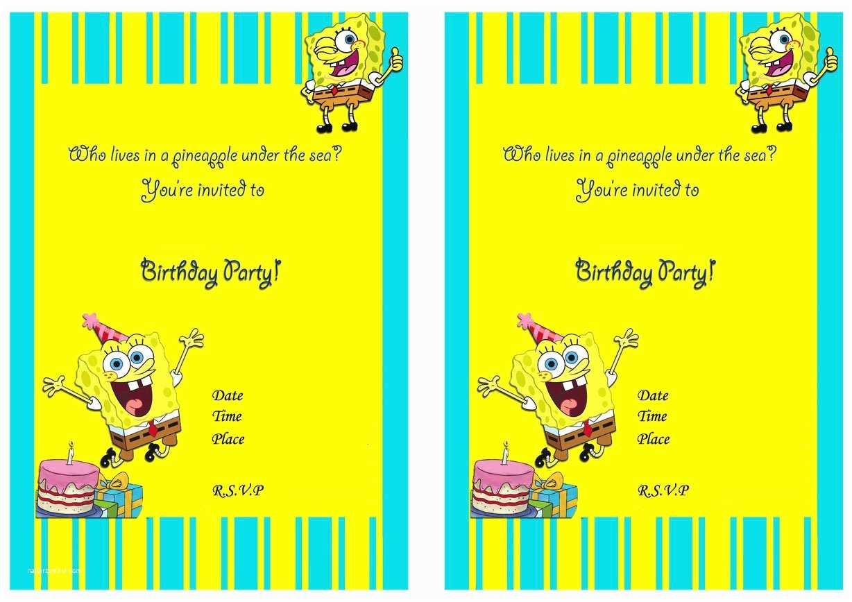 Spongebob Birthday Invitations Spongebob 1st Birthday Invitations