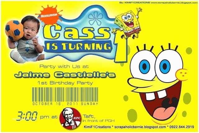 Spongebob Birthday Invitations Spongebob Birthday Invitation Layout