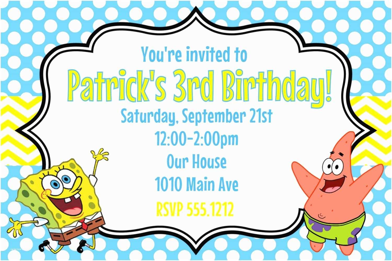 Spongebob Birthday Invitations Spongebob Birthday Invitations Free