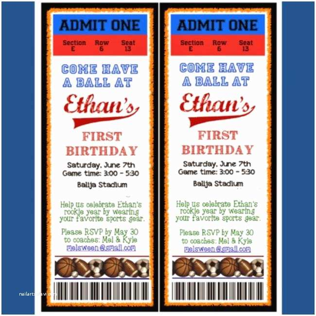 Sports Birthday Invitations A Themed Boy S 1st Party