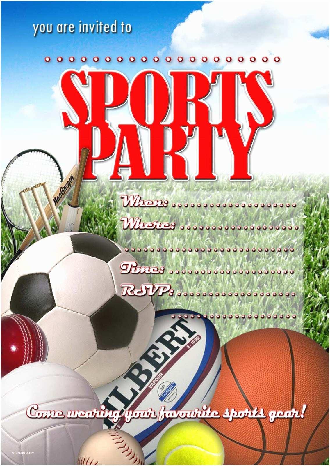 Sports Birthday Invitations Sport Invitation Templates Free