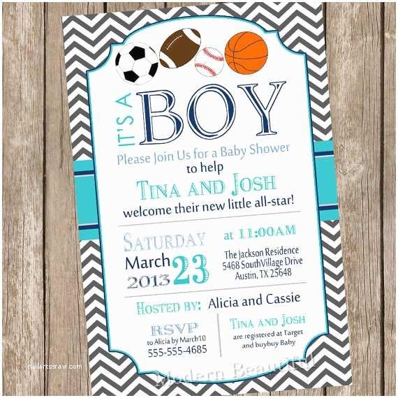 Sports themed Baby Shower Invitations Chevron All Star It S A Boy Baby Shower Invitation