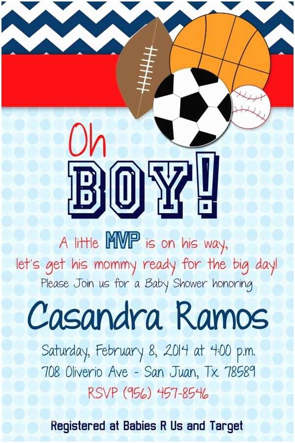 Sports themed Baby Shower Invitations Pin by Mayra Quintanilla On Sports themed Baby Shower