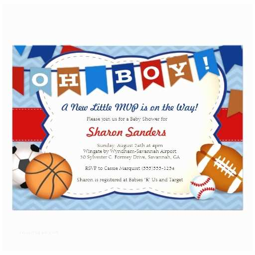 Sports themed Baby Shower Invitations Sports Baby Shower Invitations Templates