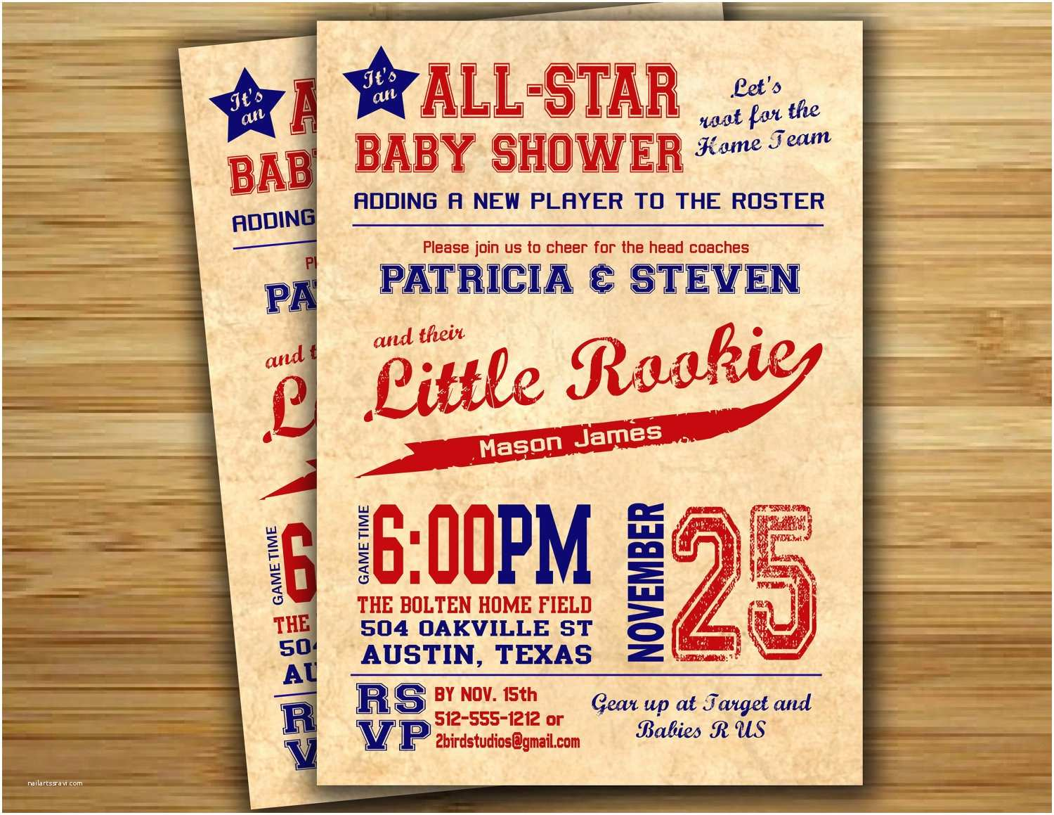 Sports themed Baby Shower Invitations theme Sports themed Baby Shower Invitation Templates