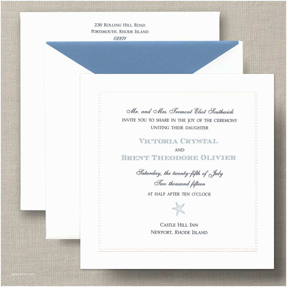 Square Wedding Invitations White Beaded Border Square – Wedding Invitation