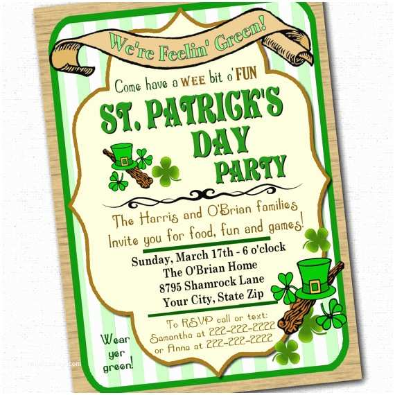 St Patricks Day Party Invitations Host the Greenest Party Ever