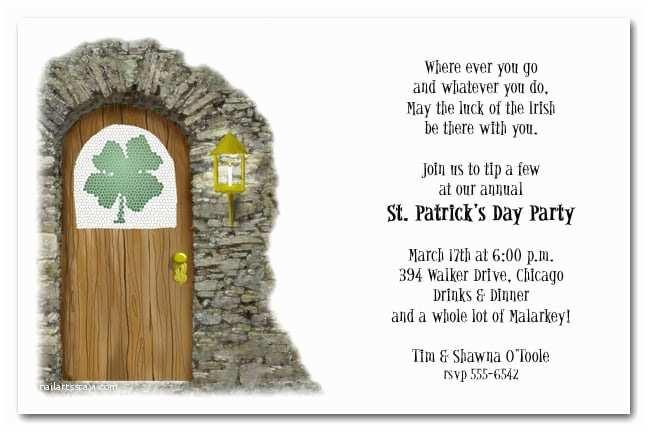 St Patricks Day Party Invitations Irish Pub Party Invitation St Patrick S Day Party