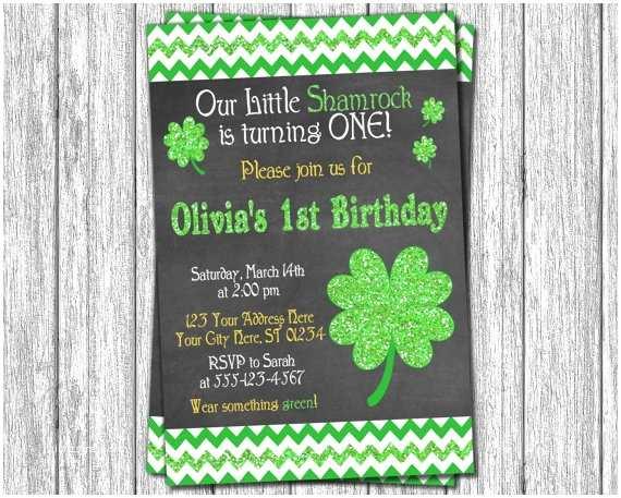 St Patricks Day Party Invitations St Patrick S Day Birthday Invitation St Patricks by