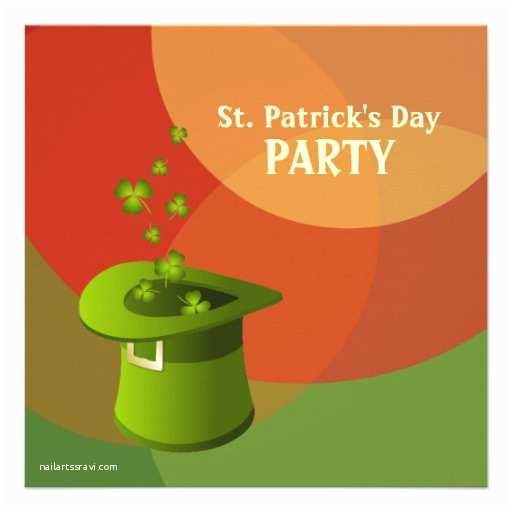 "St Patricks Day Party Invitations St Patrick S Day Irish Party Invitation 5 25"" Square"