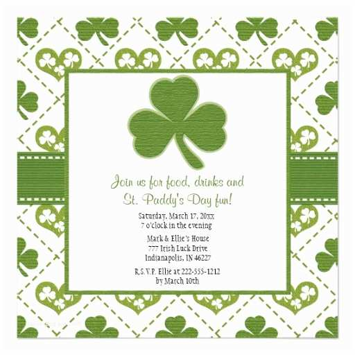 "St Patricks Day Party Invitations St Patrick S Day Party Invitations 5 25"" Square"