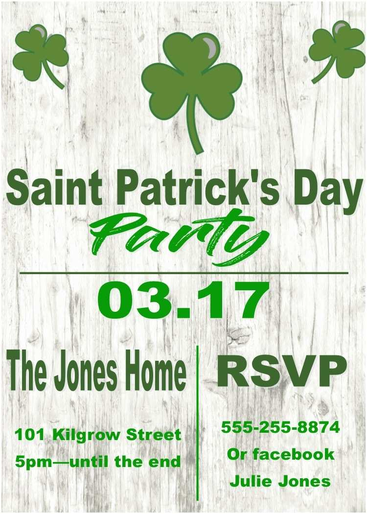 St Patricks Day Party Invitations St Patrick S Day Party Invitations St Patty S Day 2018