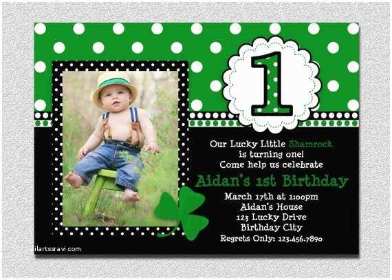 St Patricks Day Party Invitations St Patricks Day Birthday Invitation 1st Birthday St Patricks