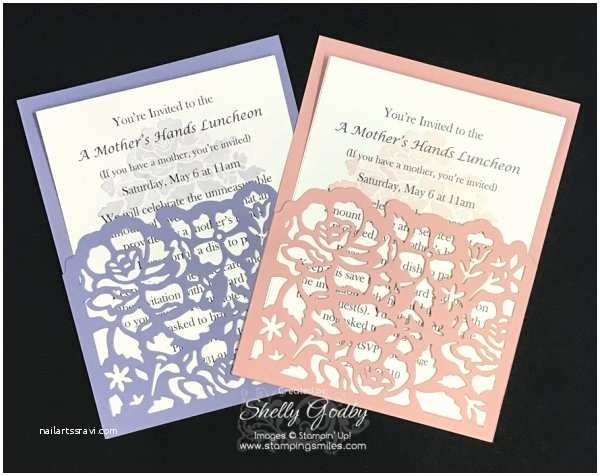 Stampin Up Wedding Invitations An Elegant Stampin Up Floral Phrases Invitation Idea