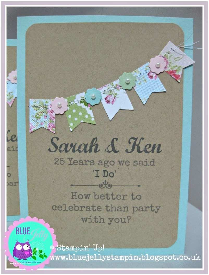 Stampin Up Wedding Invitations Blue Jelly Sew N so Victoria Rogers Stampin Up