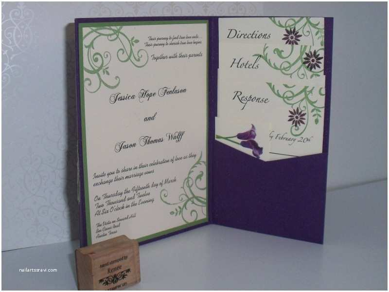 Stampin Up Wedding Invitations Daughter S Wedding Invitation by Stampinhappyrenee at