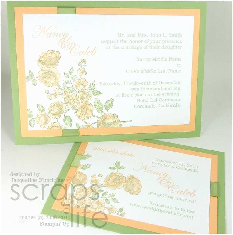 Stampin Up Wedding Invitations Wedding Wednesday Wedding Suite Style