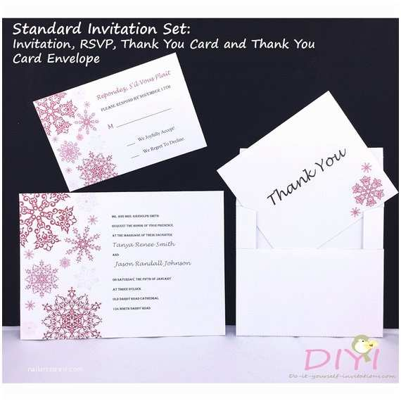 Standard Wedding Invitation Items Similar to Printable Winter Wedding Invitation