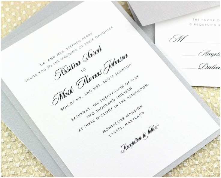 Standard Wedding Invitation Standard Wedding Invitation Font Size