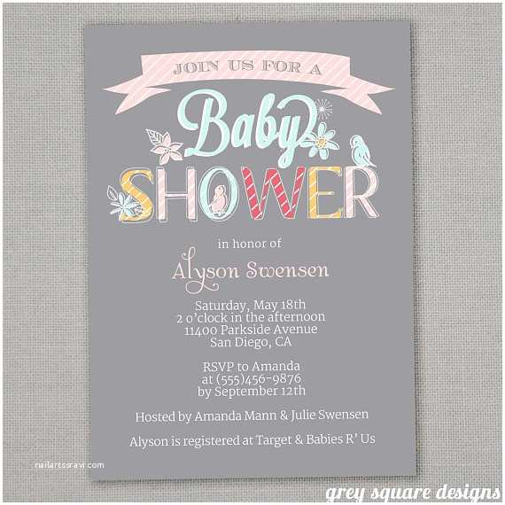 Staples Baby Shower Invitations Baby Shower Invitation Girl