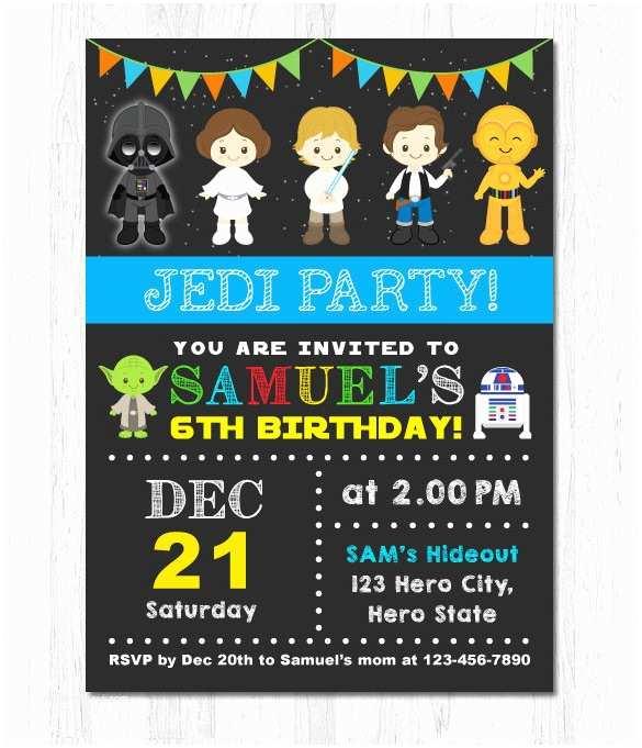 Star Wars Birthday Invitation 21 Star Wars Birthday Invitation Template – Free Sample