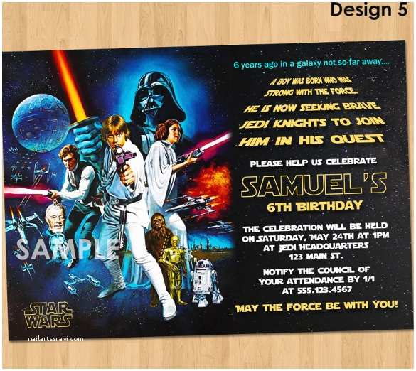 sample star wars birthday invitation