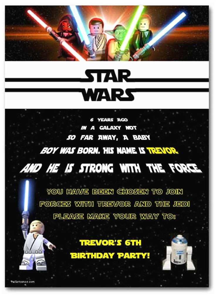 Star Wars Birthday Invitation 25 Best Ideas About Star Wars Invitations On Pinterest