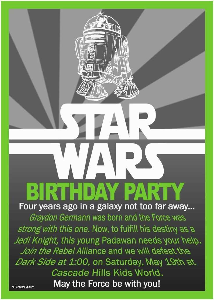 Star Wars Birthday Invitation Printable