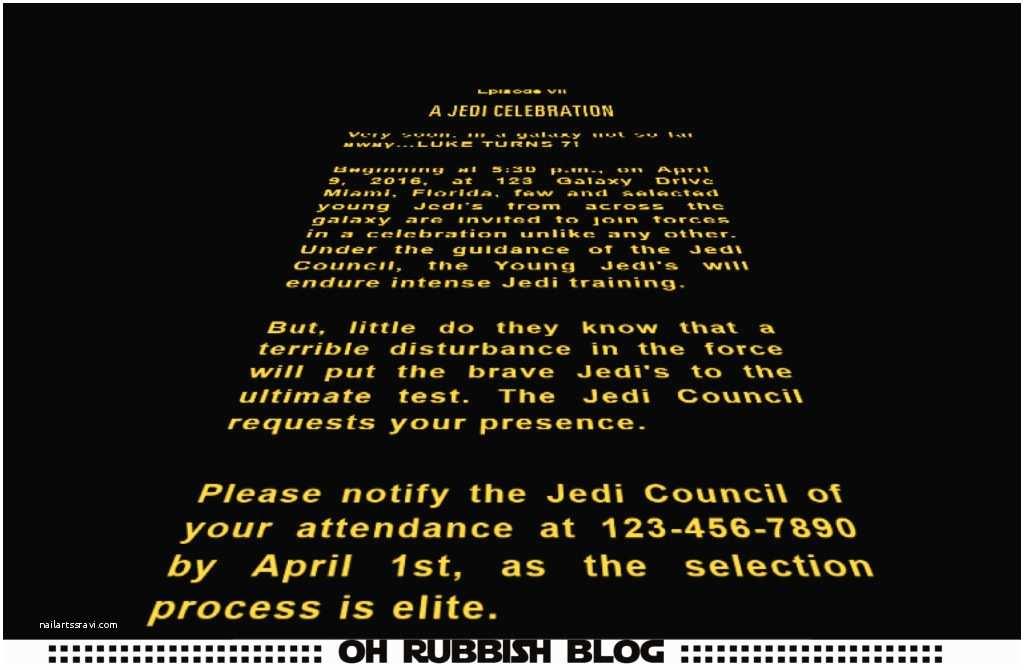 Star Wars Birthday Invitation Star Wars Birthday Party Ideas Invitation Games