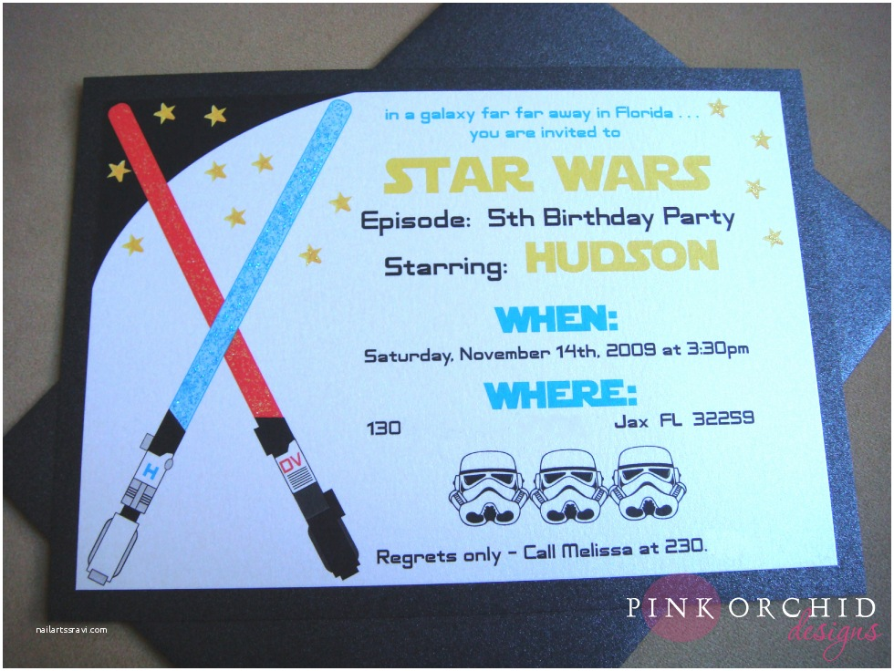Star Wars Birthday Invitation Star Wars Birthday Party Invitations Templates