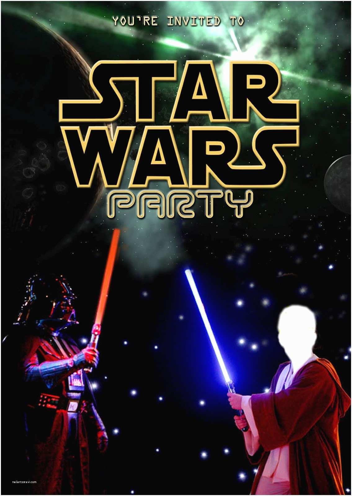 Star Wars Birthday Invitation Party Invitations