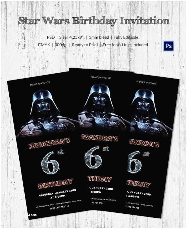 Star Wars Birthday Invitations 23 Star Wars Birthday Invitation Templates – Free Sample