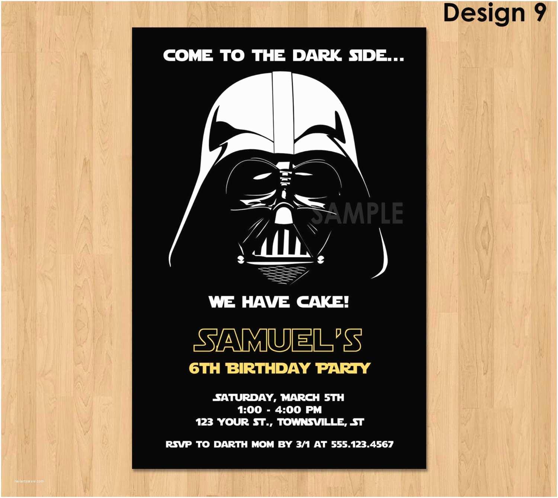 Star Wars Birthday Invitations Darth Vader Invitation Star Wars Birthday Invitation Star