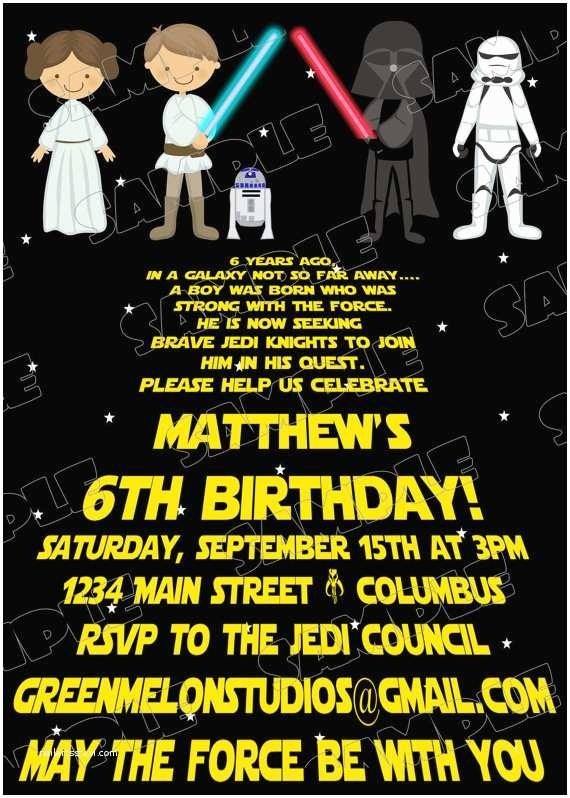 Star Wars Birthday Invitations Free Printable Star Wars Birthday Invitations