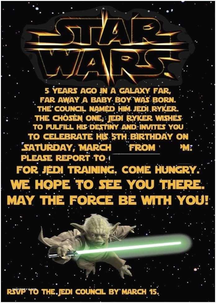 Star Wars Birthday Invitations Free Samples Printable Star Wars Birthday Invitations