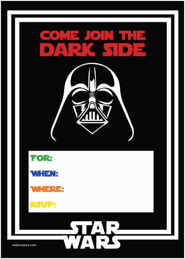 Star Wars Birthday Invitations Free Star Wars Party Printables A No Stress Way to A