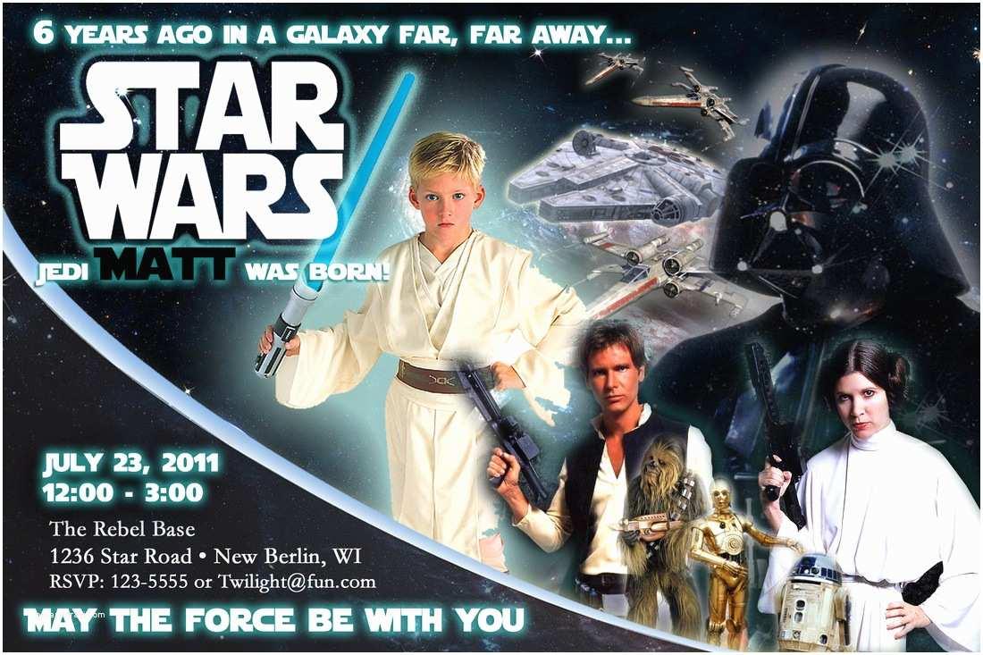 Star Wars Birthday Invitations How to Make Star Wars Birthday Party Invitations