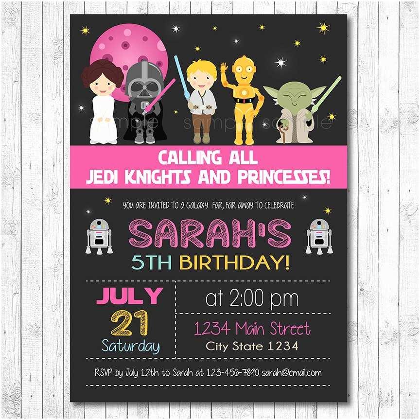 Star Wars Birthday Invitations Star Wars Birthday Invitation Star Wars Invite Star Wars