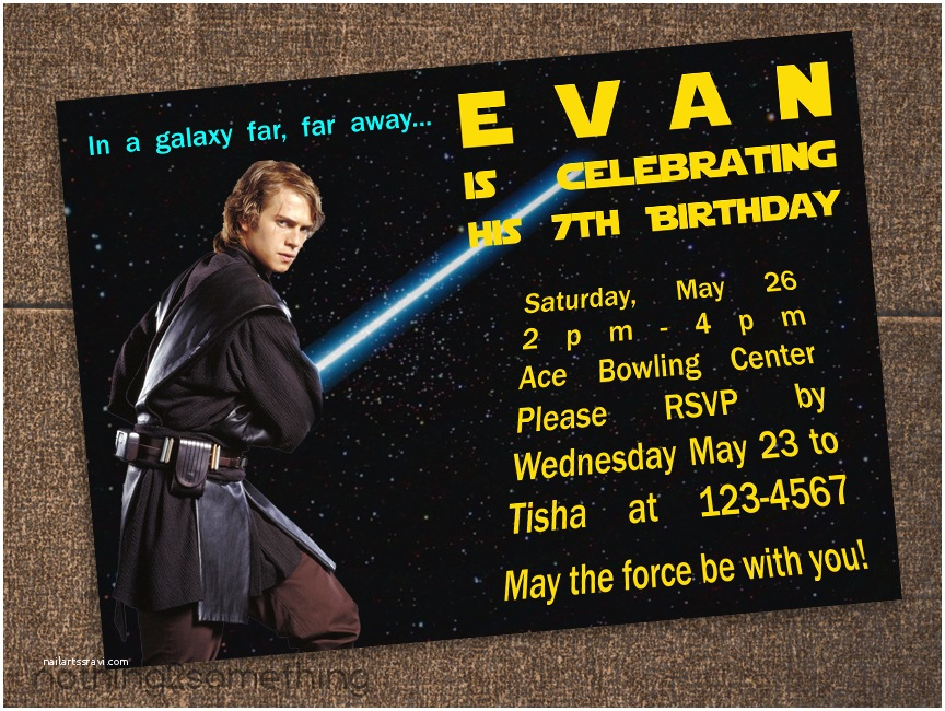 Star Wars Birthday Invitations Star Wars Birthday Invitations