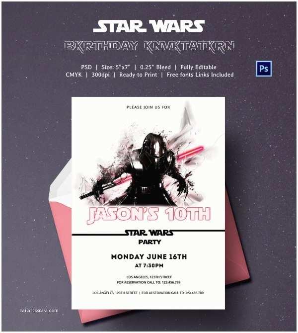 Star Wars Birthday Invitations Star Wars Birthday Party Invitations – Gangcraft