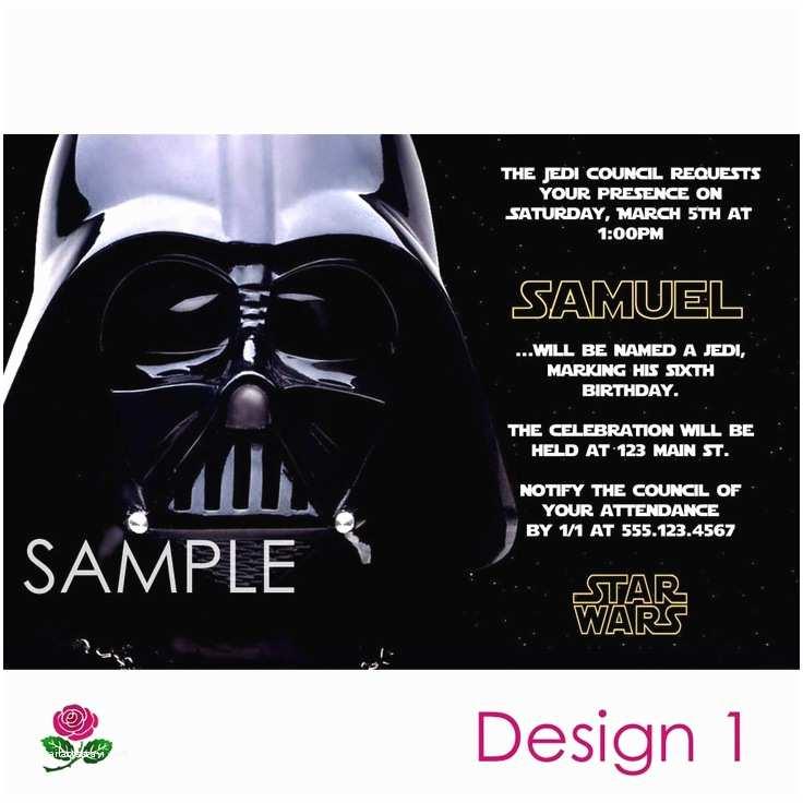 Star Wars Birthday Invitations Star Wars Invitation Printable Birthday Party You Print