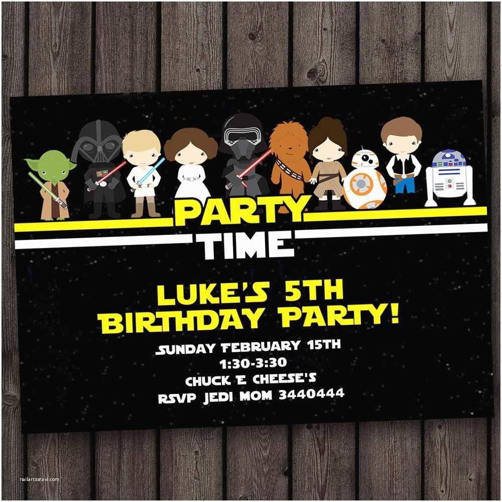 Star Wars Birthday Invitations Star Wars Invitation Star Wars Birthday by Amyssimpledesigns
