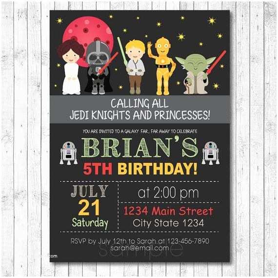 Star Wars Birthday Party Invitations Best 25 Star Wars Invitations Ideas On Pinterest
