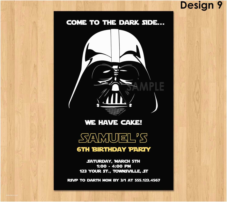 Star Wars Birthday Party Invitations Darth Vader Invitation Star Wars Birthday Invitation Star