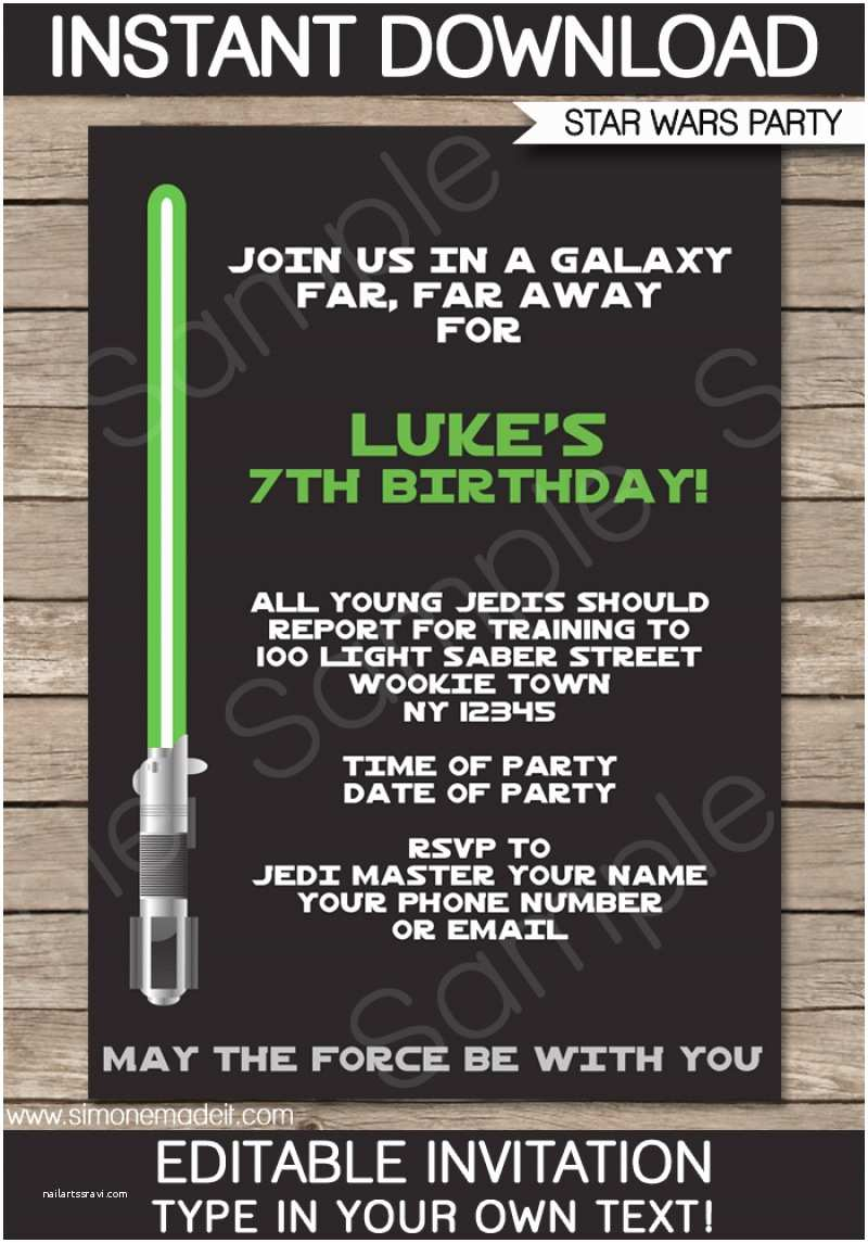 Star Wars Birthday Party Invitations Free Star Wars Invitation Download – orderecigsjuicefo