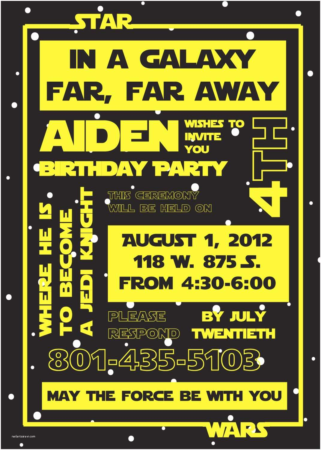 Star Wars Birthday Party Invitations Printable Star Wars Invitation and Party Banner by Susieandme