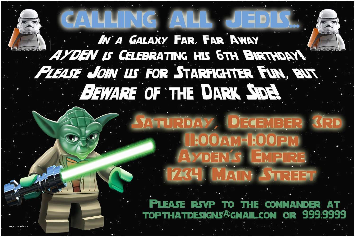 Star Wars Birthday Party Invitations Star Wars Birthday Invitations Template Free – Invitations
