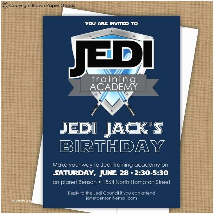 Star Wars Birthday Party Invitations Star Wars Invitation Jedi Training Academy Invitation